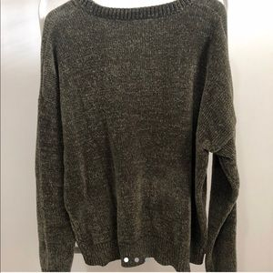 Army green chenille sweater from forever 21